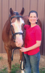Collective Equestrian Editor Liz Crumbly with her mare, Cheyenne