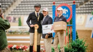 SCAD's Ryan Genn (left) with IHSA Executive Director Bob Cacchione. Genn placed third in the IHSA Cacchione Cup. (Photo: Giana Terranova Photography)