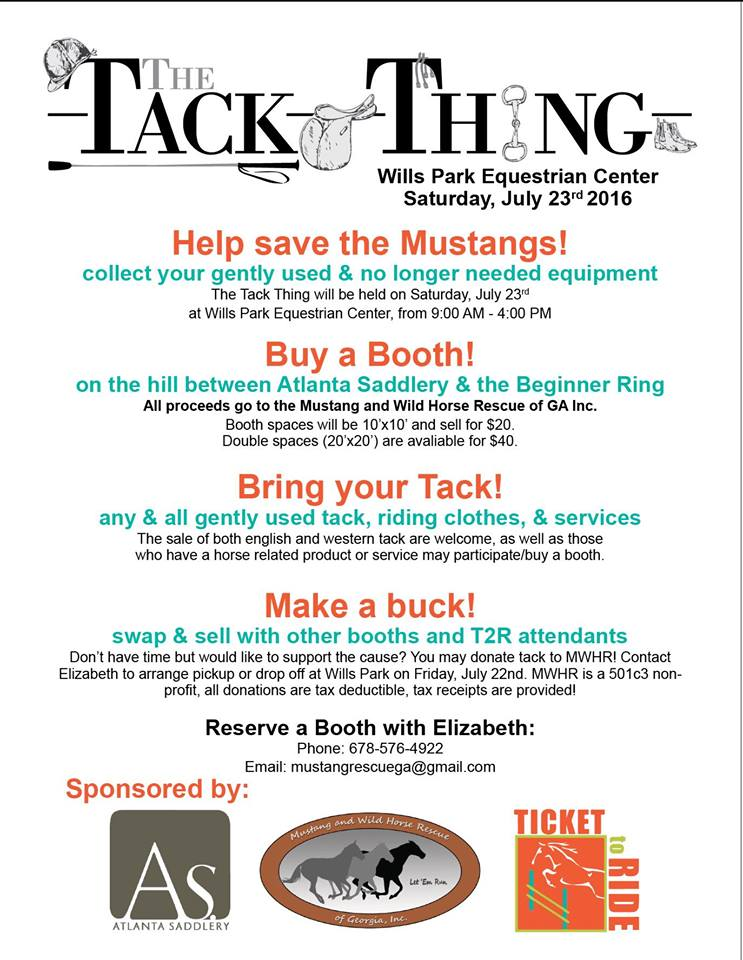 Georgians: clean out those tack trunks & prepare to swap