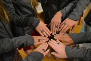 The 2016 IHSA Western Team National Championship rings. (Photo by Hillery Rolle)