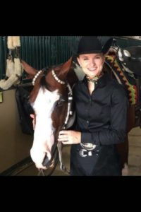 "Analisa Camelin is a junior at the University of Louisiana majoring in English and minoring in journalism. She shows her horse, ""Always Radical"" in amateur all-around events."